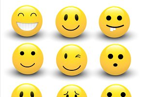 Smileys Vectors Set