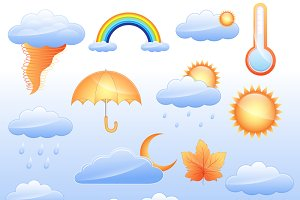 Weather Icons Vectors Set