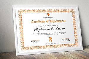 Script border corporate certificate
