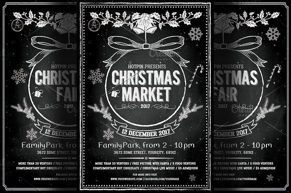 Vintage Christmas Event Flyer ~ Flyer Templates ~ Creative Market