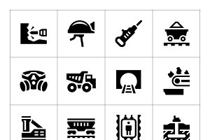 Set icons of mining
