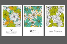 9 invitation and greeting cards.