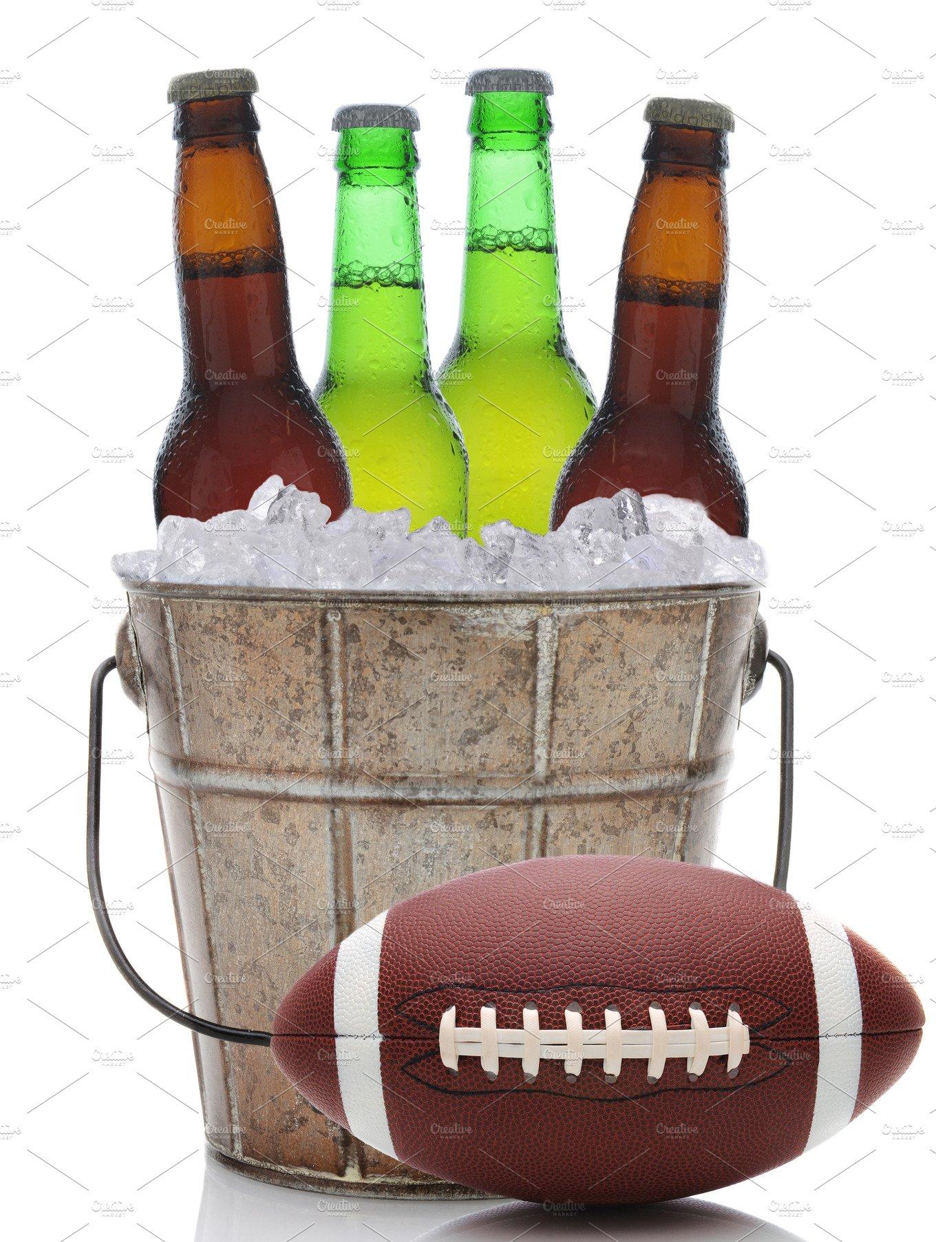 Beer Bucket with Football ~ Food & Drink Photos ~ Creative ...