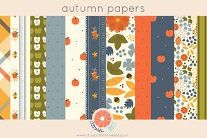 autumn digital papers