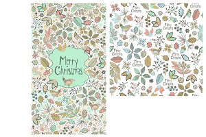 Merry Christmas pattern and card.