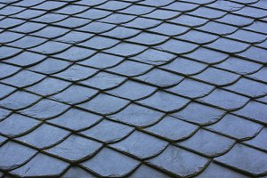 Blue roof tiles