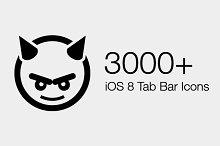 3000+ iOS 8 Tab Bar Icons