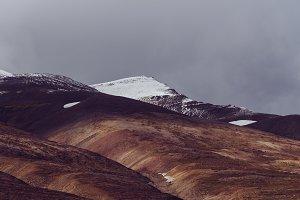 Snowy Mountains in Autumn Light