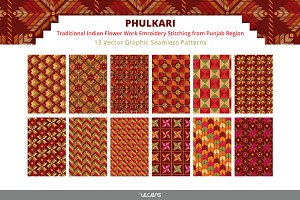 Phulkari - Embroidery Patterns