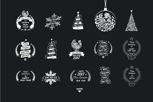 Christmas theme logos pack