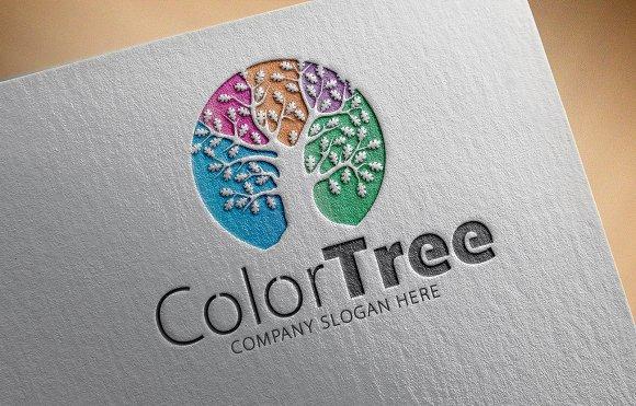 Color Tree Logo in Logo Templates