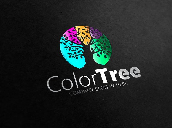 Color Tree Logo in Logo Templates - product preview 1