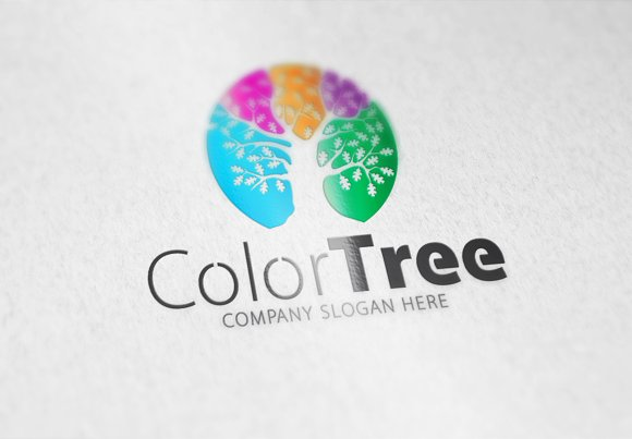 Color Tree Logo in Logo Templates - product preview 3