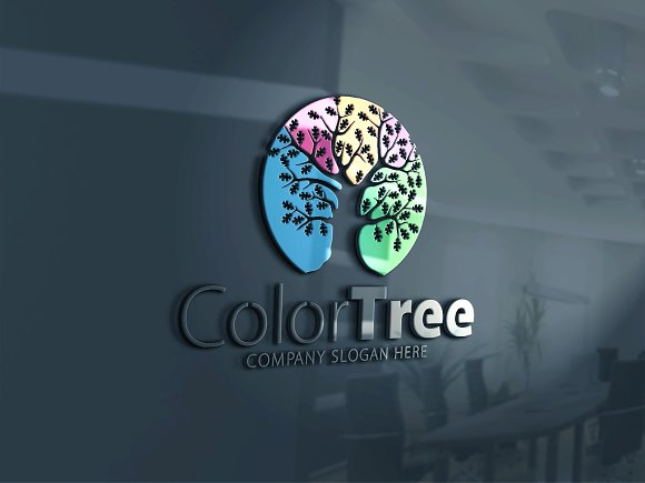Color Tree Logo in Logo Templates - product preview 4