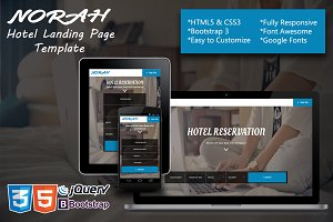 Norah - Hotel Landing page Template