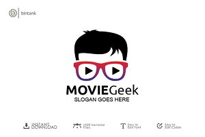 Movie Geek Logo