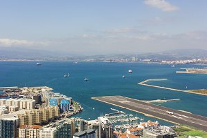 Aerial view of the Bay of Gibraltar