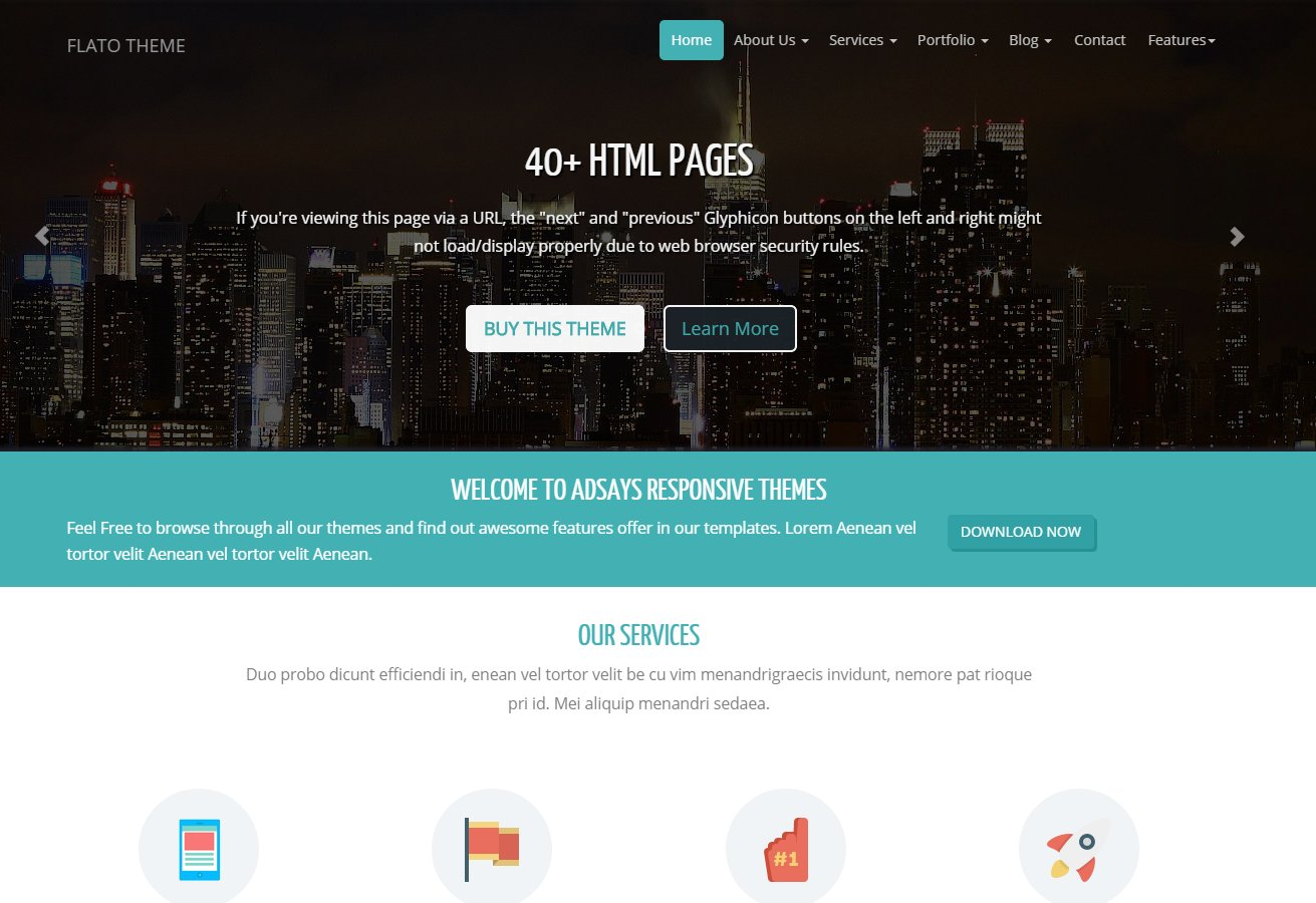 Flato corporate business theme bootstrap themes creative market wajeb Images