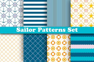 Bright Sailor Patterns Set