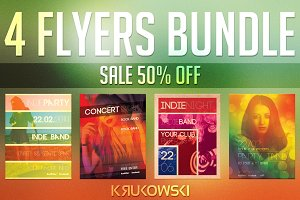 Indie Event Flyers Bundle