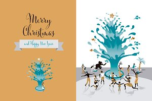 Christmas Card with Water
