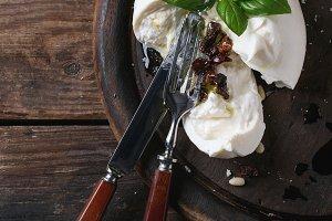 Italian cheese burrata