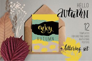 Set of 12 autumn  templates.