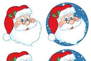 Santa Claus Head Collection