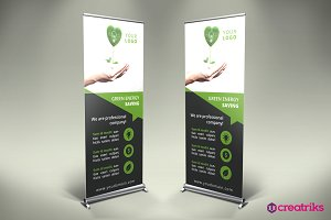 Save Energy Roll Up Banner - v024