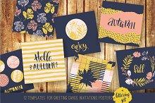 Set of 12 autumn templates