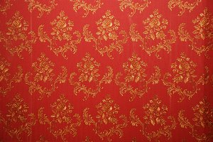 Old red wallpaper texture