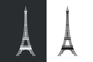 Outline Eiffel tower illustration