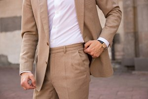 Gentleman in beige suit
