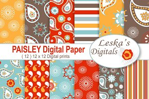 Paisley Digital Paper