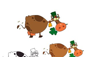 St Patricks Day Cow. Collection