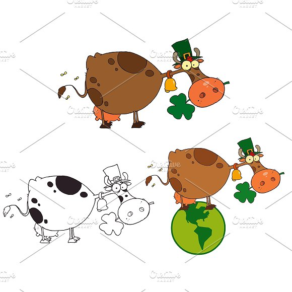 St Patricks Day Cow. Collection - Illustrations