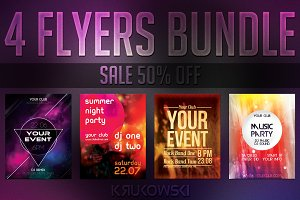 Simple Event Flyers Bundle