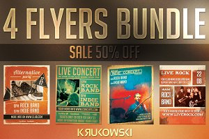 Alternative Concert Flyers Bundle