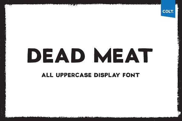 DEAD MEAT - T-shirt Design Font