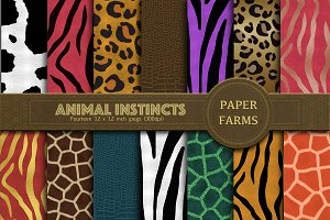 Animal print digital paper