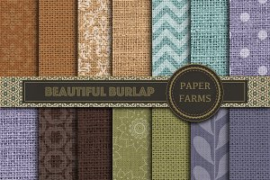 Burlap patterned digital paper