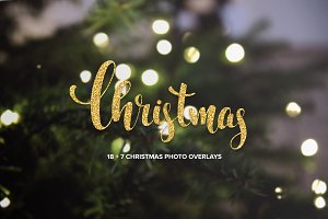 18 + 7 Christmas photo overlays
