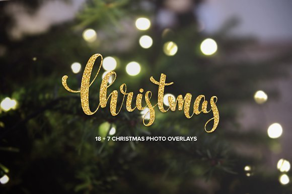 18 + 7 Christmas photo overlays
