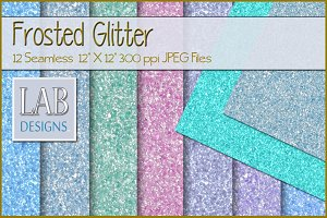 12 Seamless Frosted Glitter Textures