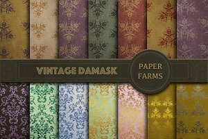 Vintage damask digital paper