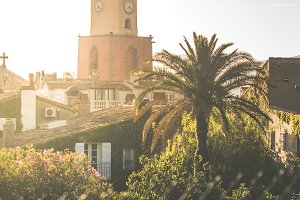 Saint-Tropez the clock tower