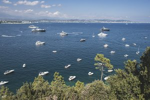 Yachts on the french riviera