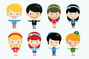 Children vector people