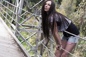 Girl at the bridge
