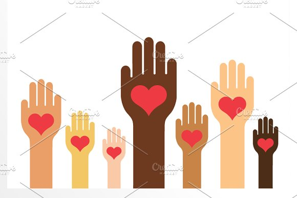 Hands & Hearts (Skin Colors Version)